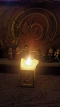 Nativity candle